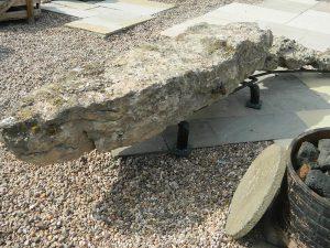 stone crocodile seat
